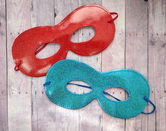 Superhero Mask, Glitter Canvas in Your Choice of Color, Felt & Elastic Back, One Size, Costume, Cosplay, Dress Up Mask, Photo Booth Prop