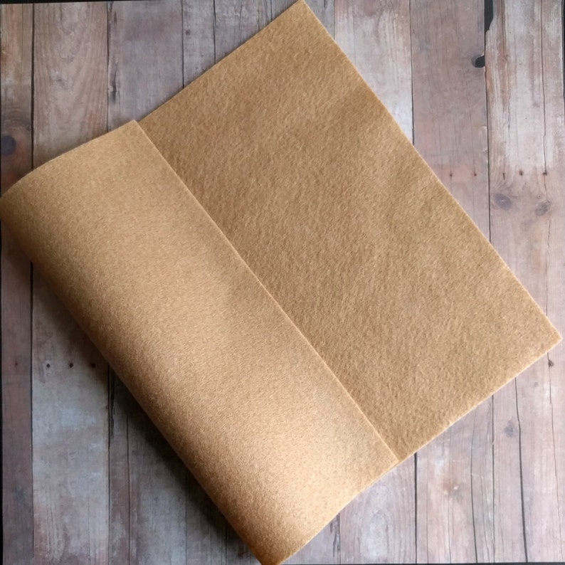 Beige Acrylic Felt Sheets or Circles High Quality Made in 5 Sheet Pack