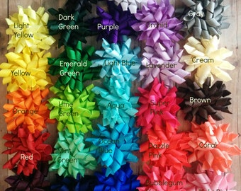 One Mini Korker Bow Hair Clip or Band, Choose Your Color and Clip or Band Style, Made in USA, Many Colors Available, Custom Order