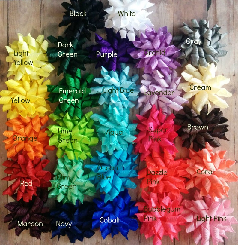 One Mini Korker Bow Hair Clip or Band Choose Your Color and image 0