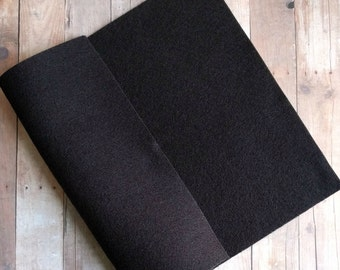 Black Acrylic Felt Sheets or Circles, High Quality, Made in USA, Black Felt, 5 9x12 Sheets or 30 Pack of 1 inch Circles, Quick Ship