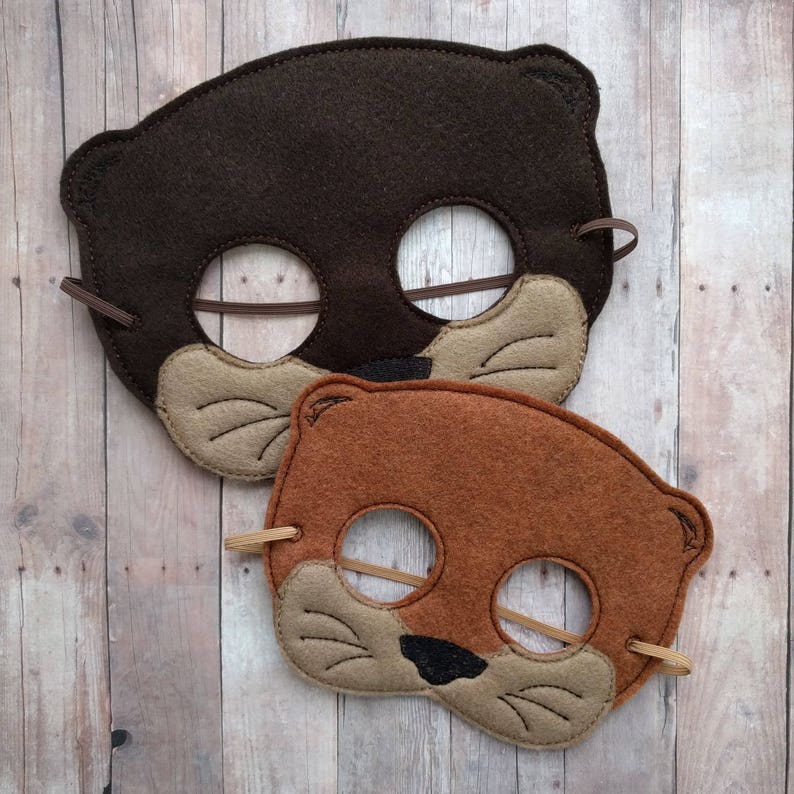 Otter Felt Mask in Choice of 2 Sizes Brown or Copper Acrylic image 0