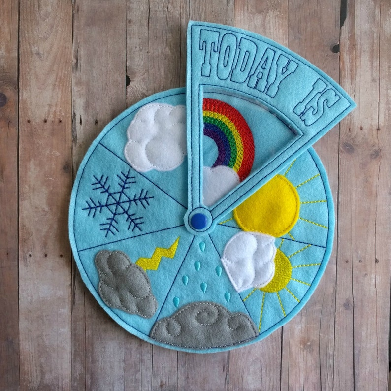 Today's Weather Wheel Teach Weather to Children For image 0