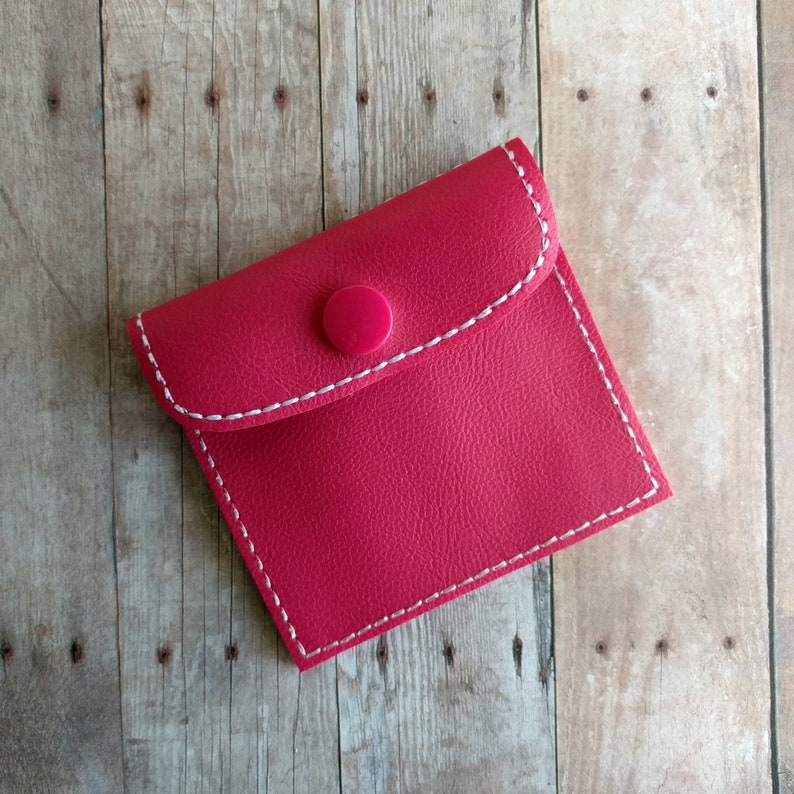 Holds 2 Condoms Birth Control Case Vinyl in Your Choice of 31 Colors with Snap Closure Condom Case Carry Discreetly Made in USA