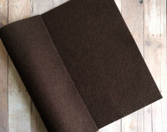 Brown Acrylic Felt Sheets or Circles, High Quality, Made in USA, Brown Felt, 5 9x12 Sheets or 30 Pack of 1 inch Circles, Quick Ship