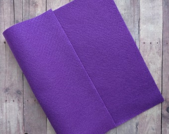 Violet Purple Acrylic Felt Sheets or Circles, High Quality, Made in USA, Solid Felt, 5 9x12 Sheets or 30 Pack of 1 inch Circles, Quick Ship