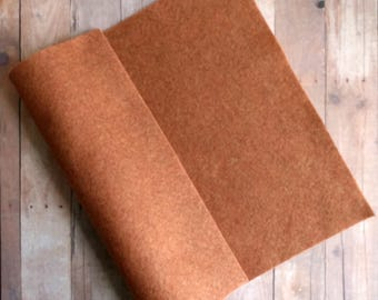 Copper Brown Acrylic Felt Sheets or Circles, High Quality, Made in USA, Brown Felt, 5 9x12 Sheets or 30 Pack of 1 inch Circles, Quick Ship