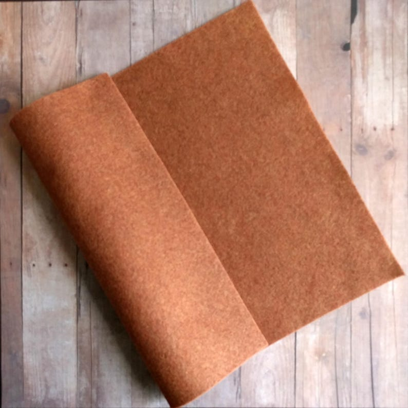 Copper Brown Acrylic Felt Sheets or Circles High Quality 5 Sheet Pack