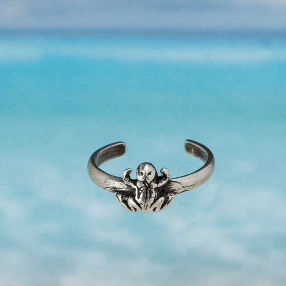 Sterling Silver Frog Adjustable Toe Ring