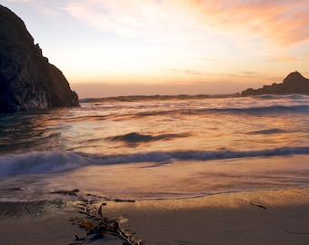 Sunset on the Beach - Big Sur CA - 16x20