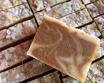 Turmeric Tea Tree Lemon - Face and Body Soap - Cleansing and Balancing Soap