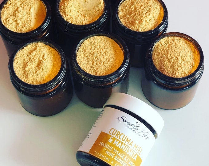 Test format - Turmeric Face Mask, Honey and Manjishta, Yellow Clay Mask Sample, Enlightens and Anti-Tacches - Radiant Skin