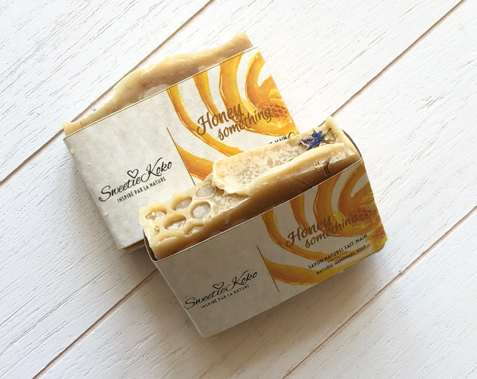 HONEY SOMETHING..  - Handmade Shea Butter and Creamy Honey Soap