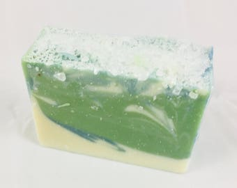 Dead Sea Salt & Kelp - Spa Soap with Dead Sea Salt and Kelp Algae. Remineralising and Revitalizing Soap - 195g