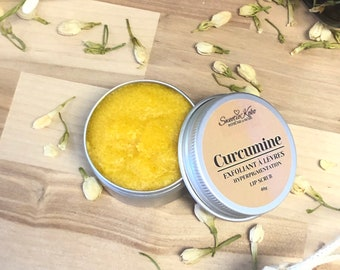 Turmeric, Honey and Lemon Lip Brightening Scrub, Hyperpigmation, 45g
