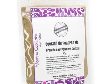 Hair Herbal Powders Cocktail for Hair Mask - Hair Growth, Hair-loss, Volume, with Amla, Marshmallow, Brahmi, Bhringaraj, Nettle, Horsetail