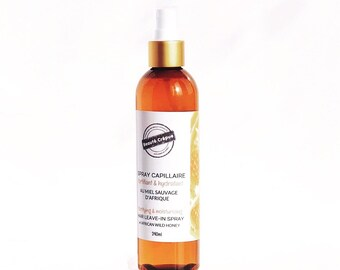 African Wild Honey'' Hair Leave-in Spray. Fortifying Leave-in Conditioner for dry or damaged hair - 240ml