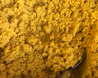 Ship to USA - PRETTY GLOW - Tumeric and Salt Unifying and Radiance Glow Scrub - Bulk Size, Private Label
