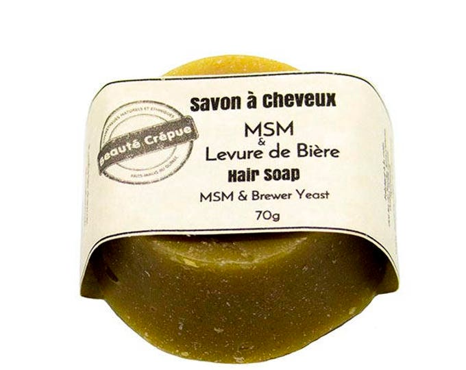 Hair Soap - Hair Growth with Brewer's Yeast, MSM, Castor Oil - 70g
