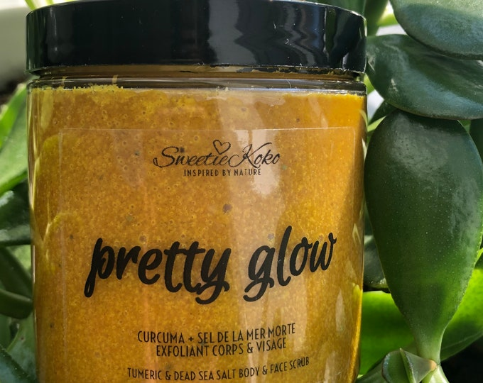 PRETTY GLOW - Tumeric and Salt Unifying and Radiance Glow Scrub - 350g