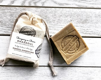 Rhassoul Clay and Organic Argan Oil - Unscented - Shampoo Bar - 180g