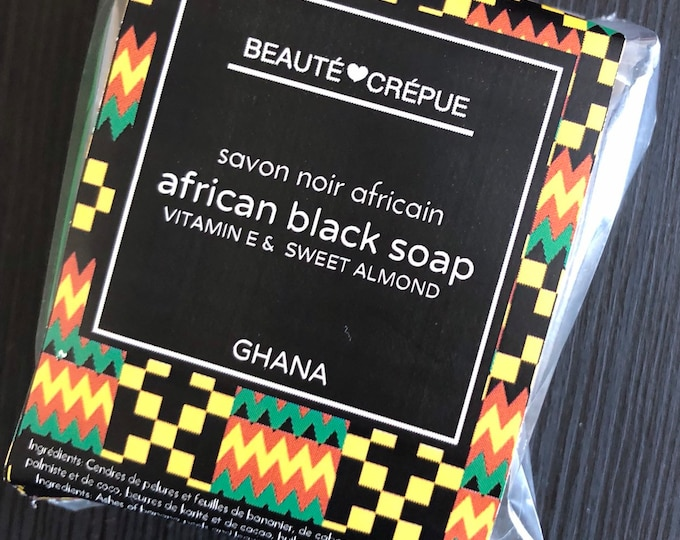African Black Soap - Enriched with Vitamin E and Sweet Almond Oil