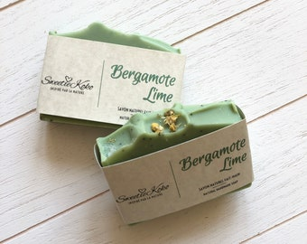 BERGAMOTE LIME - Shea Butter and Essential Oils Soap