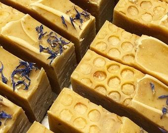 HONEY SOMETHING..  - Handmade Shea Butter and Creamy Honey Soap