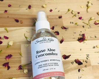 ROSE ALOE CUCUMBER - Hydrating Facial Toner - 120ml