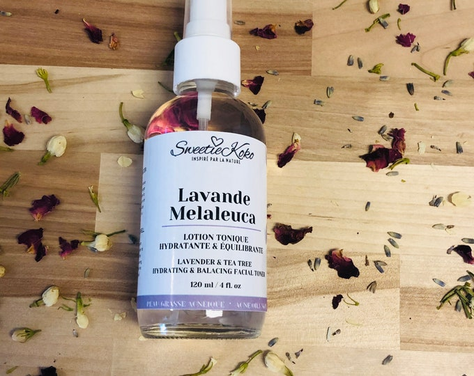 LAVENDER MELALEUCA - Hydrating and Balancing Facial Toner Lotion - Oily and Acne-prone Skin - 120ml