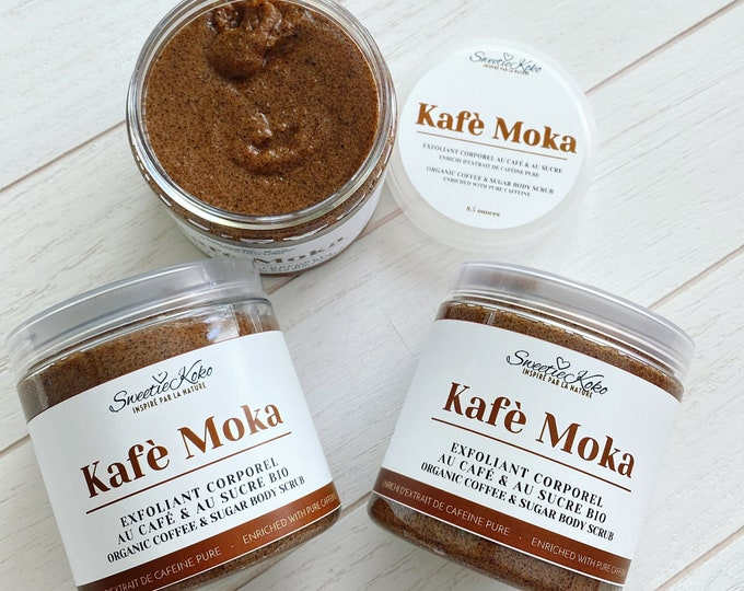 KAFÈ MOKA - Body Scrub with Sugar and Caffeine anti-cellulite - Slimming and firming Coffee Scrub - 250g