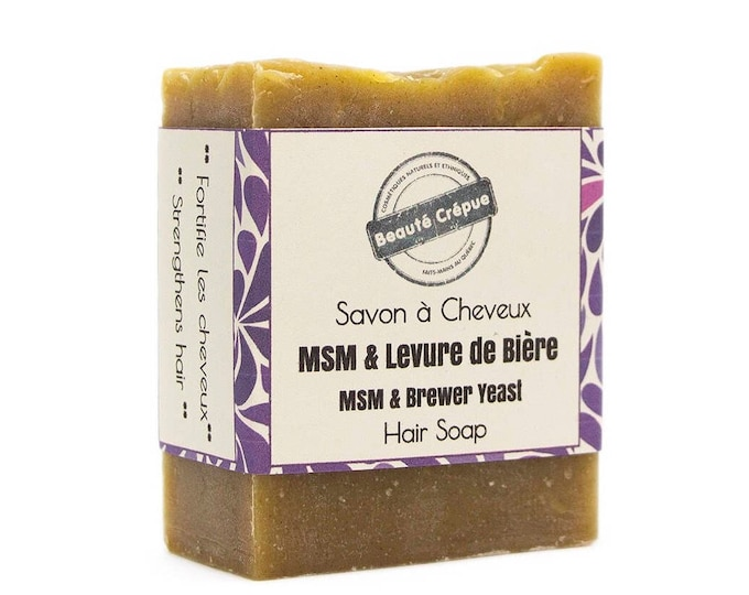Hair Soap - Hair Growth with Brewer's Yeast, MSM, Castor Oil - 180g