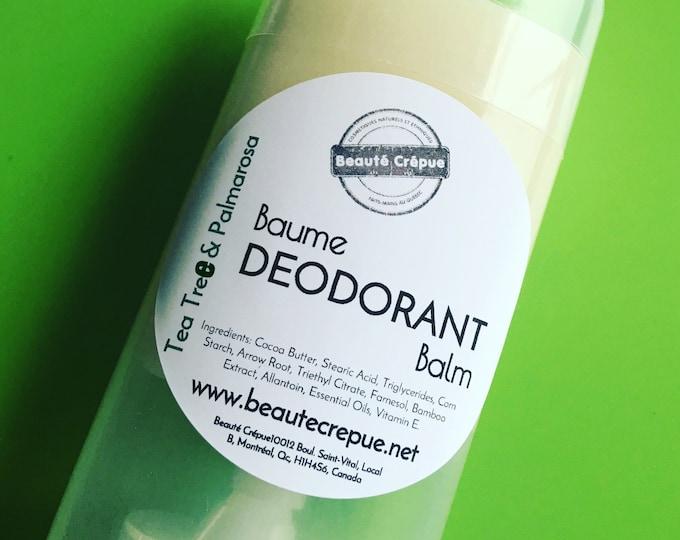 Natural Deodorant Balm with Essential Oil - Aluminum Free Deodorant