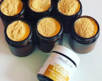 Turmeric, Honey, Manjishta, Yellow Clay Mask, Anti-Dark Spots and brightening - Glow Skin