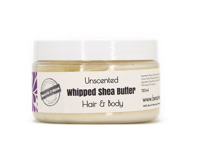 Unscented Whipped Shea Butter - Hair and Body Butter