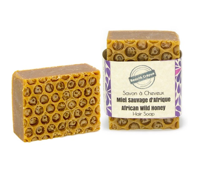 Honey Hair Soap - African Wild Honey - Solid Shampoo for Dry and Damaged Hair - 180g
