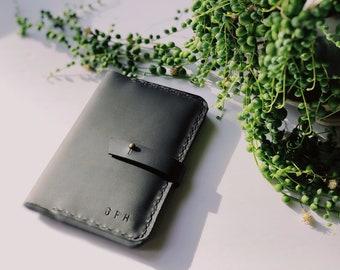 The Minimalist - All Black Leather Passport Holder, Leather Passport Wallet, passport cover, travel wallet, passport case, From Marfa
