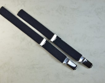 Straps - 2 Strapsbänder 13mm with suspender clip for attaching in black, white and skin.