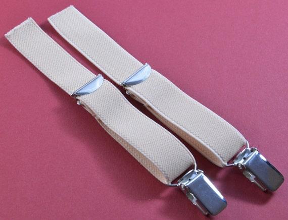Sangles - 2 sangles bandes 20 mm avec clip de jarretelles pour fixer en marron.