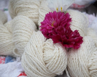 Natural White wool yarn Romney/Cotswold   **SALE**