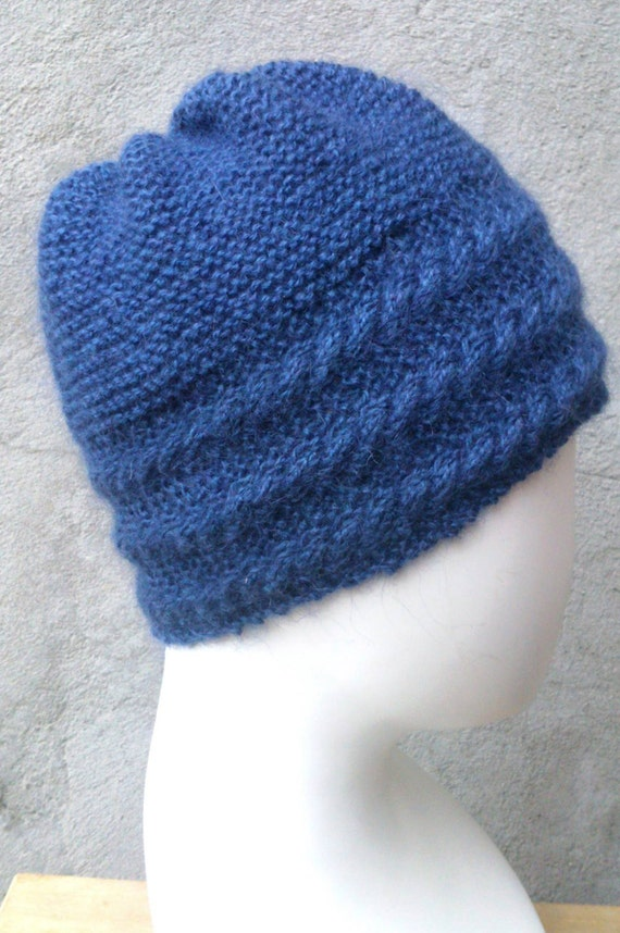 Knitting Pattern Hat With Cabled Border Flat Knit Hat Knit Hat