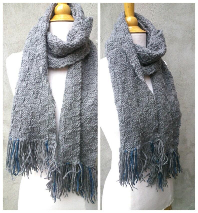 Hervorragend Grey stricken stricken Herren Schal grau Schal Herren Schal | Etsy HS52