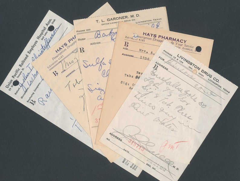 Vintage Doctor Prescriptions / 1940's and 1950's / image 0
