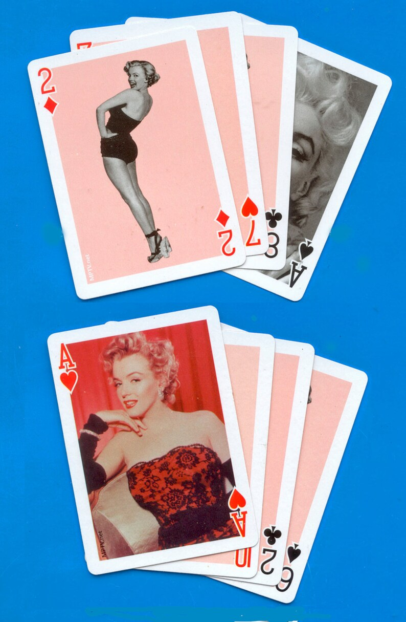 Marilyn Monroe Playing Cards / Blonde Bombshell / Collage image 0