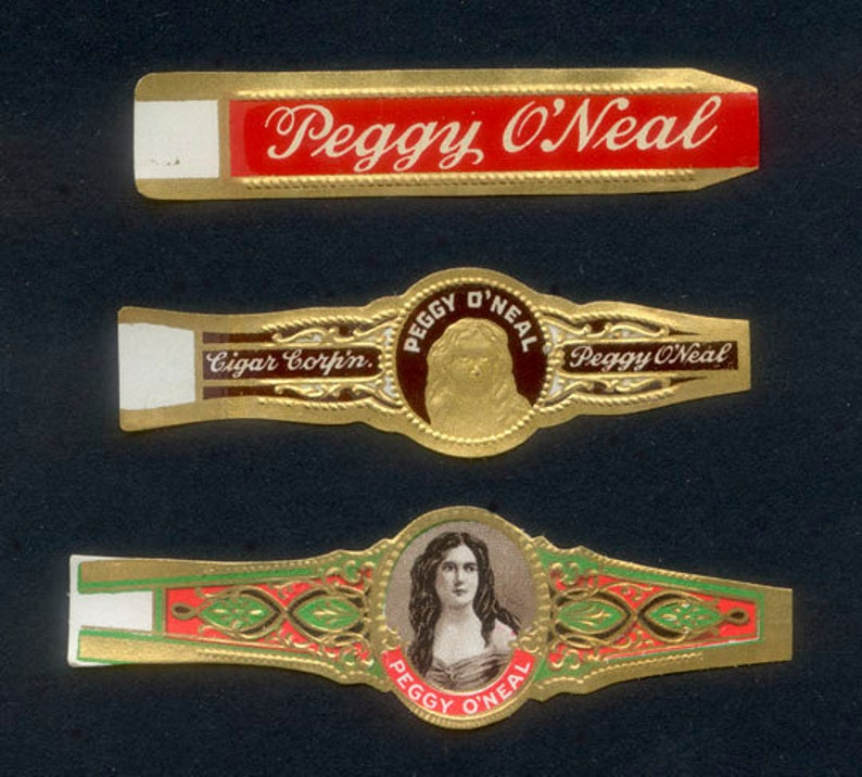 Vintage Gold Gilded Cigar Bands / Peggy O'Neal / Collage image 0
