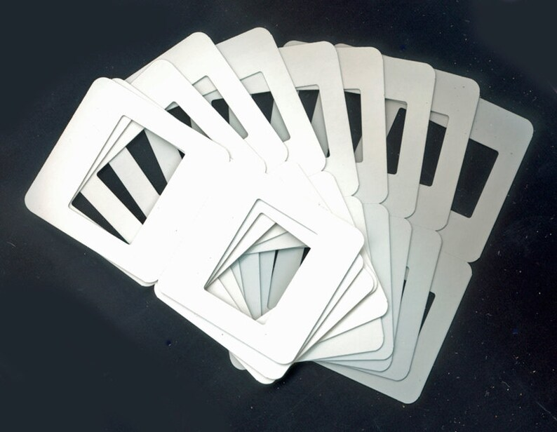 New Blank Cardboard Slide Mounts or Frames / Mixed Media image 0