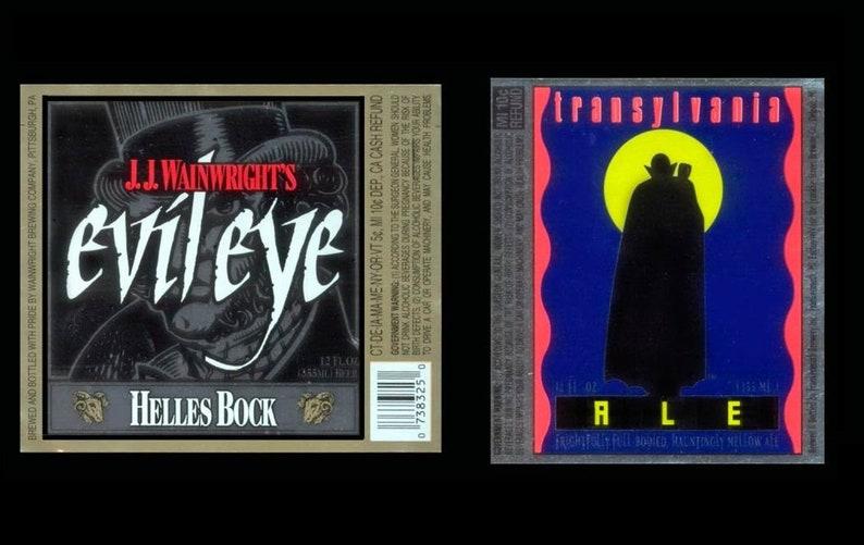 Vintage Hallowe'en Beer Labels / Scary Crafts Creepy image 0