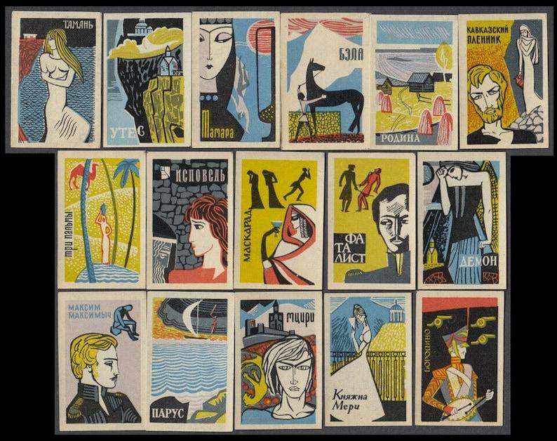 Fabulous Soviet Graphics on Vintage Matchbox Labels / Russian image 0