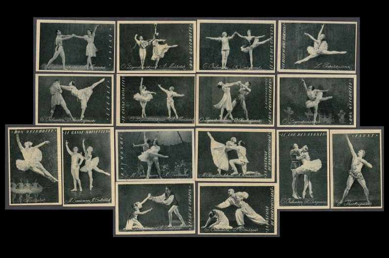 Traditional Theatrical Ballet / Vintage Soviet Matchbox Labels image 0