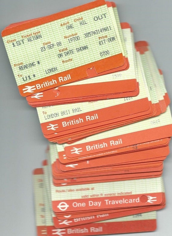 British Railway Tickets / APTIS / Fun for Junk Journals, Travel  Scrapbooking, Collage, Artist Trading Cards, Handmade Gift Tags, Mixed Media